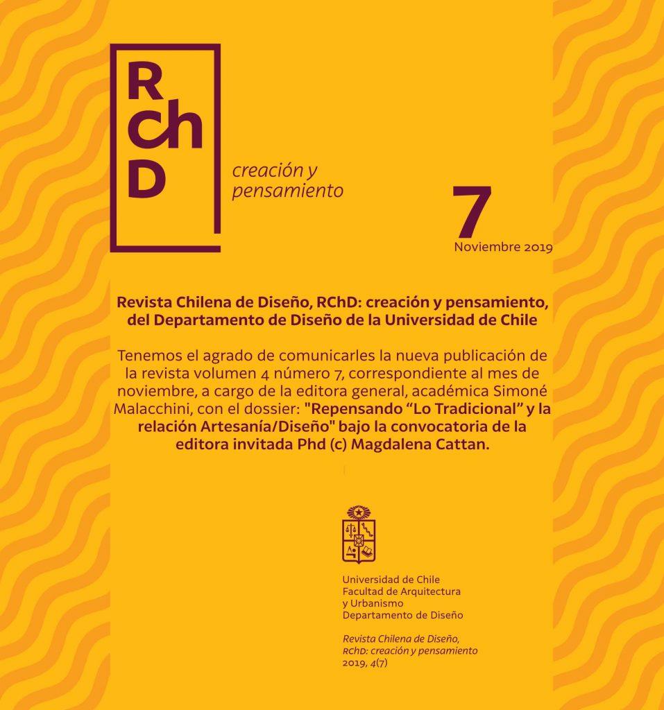 Revista Chilena de Diseño, RChD: creación y pensamiento, del Departamento de Diseño de la Universidad de Chile